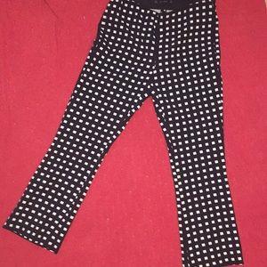 Flared Checkered Zara Cut Offs